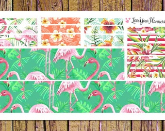 FLAMINGO Bottom Washi and Washi Strips Planner Stickers Washi Planner Stickers Washi Stickers Flamingo Sticker Flamingo Planner Sticker W103