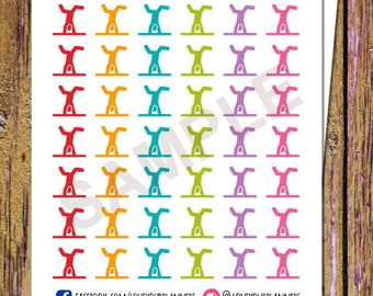 42 Gymnastics Planner Stickers Fitness Stickers Gymnastics Stickers Exercise Planner Workout Planner Functional Stickers Icon Stickers A154
