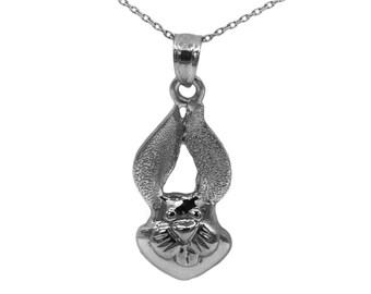 14k Black Gold Rabbit Necklace