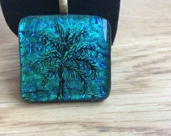 Turquoise palm tree