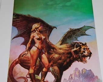 Boris Vallejo Print - The High Couch of Silistra - 1977