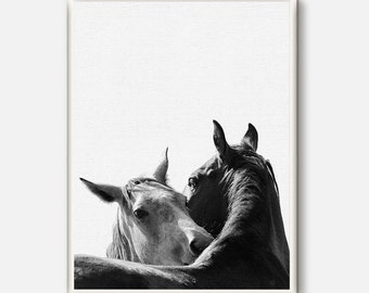 Horse Wall Art, Horse Print, Black and White Photography, Modern Art, Equestrian Art, Scandinavian Print, Printable Art, Wilderness animals