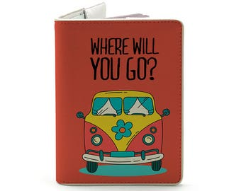 Where will you go?! - Personalized Passport Cover/Holder - Travel Passport Cover - High Quality Handmade Leather | TG-PPC-049