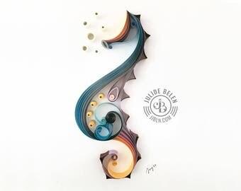 JJBLN | Quilled Paper Art By Julide Belen: Seahorse