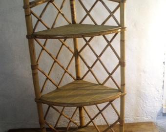 """Corner Wicker shelf """"50/60 years"""""""