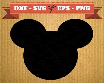 Mickey Mouse DXF Files, Mickey Svg, Png, Dfx, Eps, Mickey Mouse Silhoutte, Cut file for Silhouette Studio Cricut Cameo, CNC, Laser cut