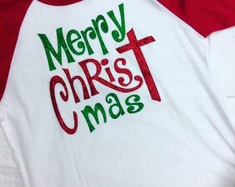 Merry CHRISTmas raglan
