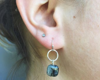 Tourmaline Crystal Earrings