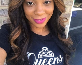 Queens are Born (Leave your Month in NOTES) Women's Fitted
