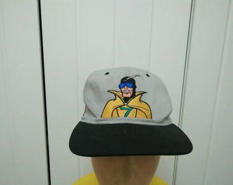 Rare Vintage Copyright 93' Marvel CAPTAIN TERROR Speed Racer Big Logo Spell Out Cap Hat Free size fit all
