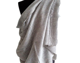 Natural Grey handmade 100% Wool Stole