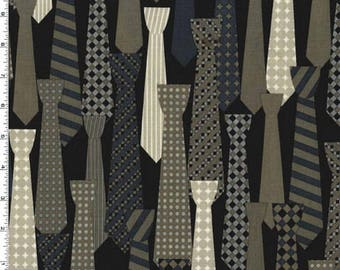 Ties in Graphite - HALF YARD - Michael Miller - Cotton Fabric - Quilting Fabric - Urban Mod