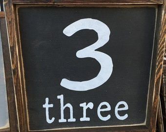 Number sign 12x12