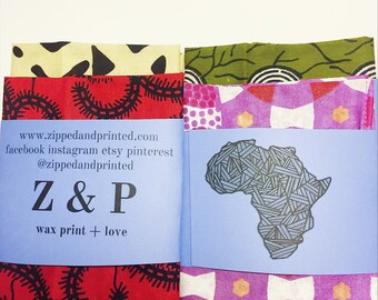 African Print Handkerchief // Wax Print Kerchief // Cotton Handkerchief // 100% Cotton Pocket Square