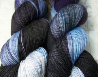 Macha.   Merino and nylon, soft luxurious yarn.