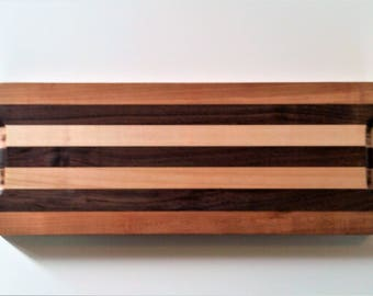Walnut, Maple and Cherry Cutting Board