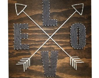 String Art- Love with Crossing Arrows