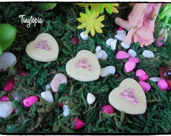 Miniature Glow In The Dark Stepping Stones ~ Set of 3 ~ Fairy Garden Accessory