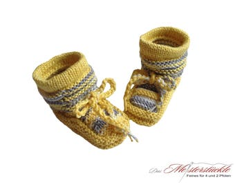 Cotton knitted baby shoes summer boots first shoes white yellow grey