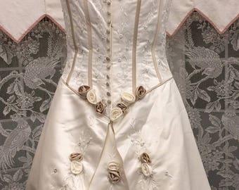 Sz 14 CORSETED WOODLAND FAIRY Princess Bride/ Elizabethan Cosplay or Costume Wedding Dress