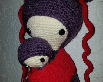Lalylala, Asia Mina, 40cm, crochet doll
