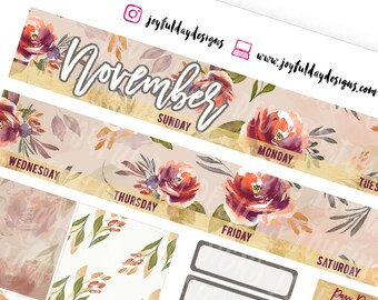HAPPY PLANNER November Monthly View - Printable Planner Stickers Month Kit