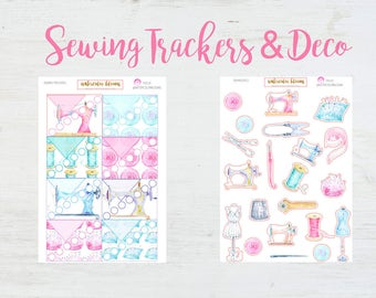 Sewing Project Trackers & Deco | Planner Stickers | Needleworking | Buttons | Mannequins | Sewing Machines |  Pins Needles Threads | Vintage