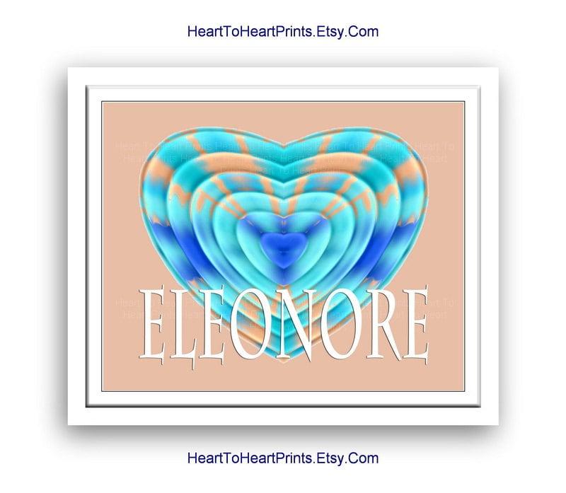 Wall Art Love Hearts : Heart wall art love decor peach teal by