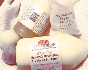 All-Natural Detergent and Fabric Softener Set
