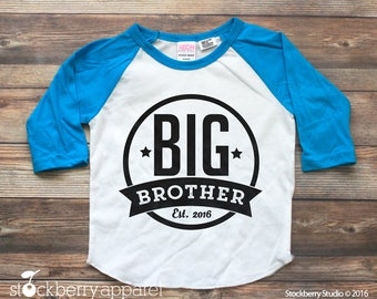 Big Brother Shirt - Personalized Big Brother Shirt - Big Brother Shirt 3/4 Sleeve - Big Brother T Shirt - Big Brother Raglan Shirt Big Bro