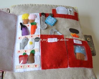 Quiet book- Montessori- home- 27 detachable objects!