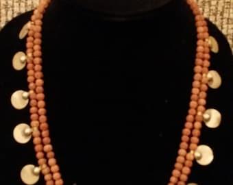 Rudraksha beads necklace, tribal, ethnic beaded necklace
