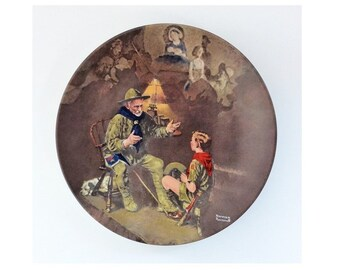 Vintage 1990 Norman Rockwell Commemorative Plate, The Old Scout, Limited Edition and Numbered