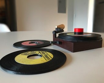 Custom 45 Record Coasters- 3D Printed