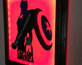 Captain America inspired wall art