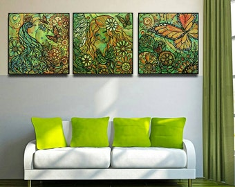 The Dream, Decorative painting, triptych