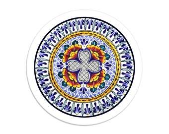 Grand Duchess - Talavera sticker seals - 1.5 inch round stickers - pack of 8