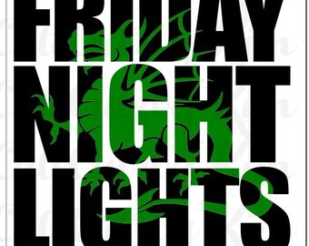 Dragon Friday Night Lights svg, dxf, jpg, png