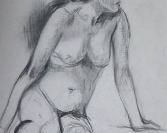 life drawing #43 - an original life drawing by professional figurative artist Anita Dewitt