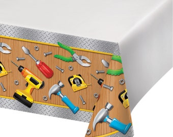 Handyman Tools Tablecover Carpenter Birthday Party Table Decorations Tablecloth Tableware Supplies