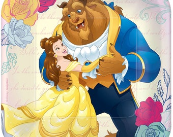 Beauty and the Beast Dessert Plates [8ct] Belle Birthday Party Tableware Buffet Supplies