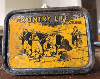 Vintage country life tobacco tin
