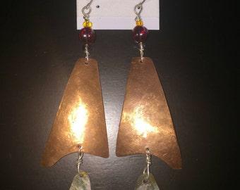 Copper & Soap stone earrings