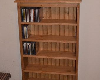 Hand waxed pine CD storage unit