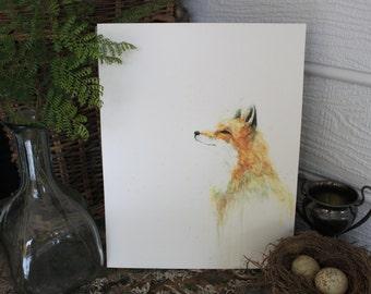 Wild Fox Watercolor PRINT -SALE-buy 2 get 1