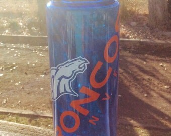 Personalized Broncos Water Bottle