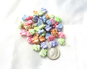 50 Assorted Color Acrylic Elephant Beads (s7a)