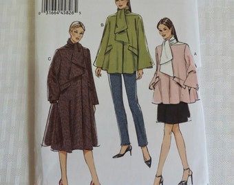 Vogue V9071 Size 14-22 Misses Loose Fitting Lined Coat in 3 Lengths Dress Sewing Pattern  / UNCUT Factory Folded