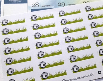 Football stickers, planner stickers, soccer stickers, match stickers, game stickers for Erin Condren, Happy Planner, personal size planners