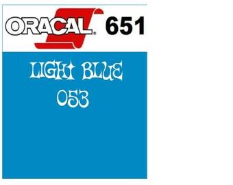 Oracal 651 Vinyl Light Blue (053) Adhesive Vinyl - Craft Vinyl - Outdoor Vinyl - Vinyl Sheets - Oracle 651